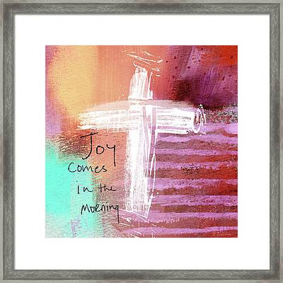 Morning Joy- Abstract Art By Linda Woods Framed Print
