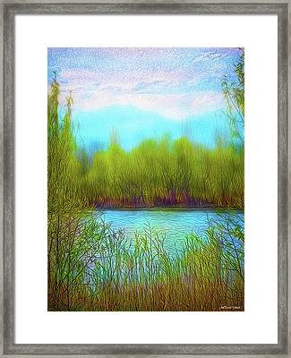 Morning Lake In Stillness Framed Print