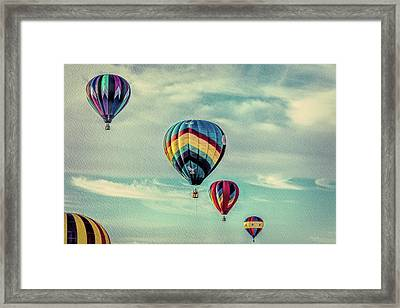 Morning Lift Off  Two Framed Print by Bob Orsillo