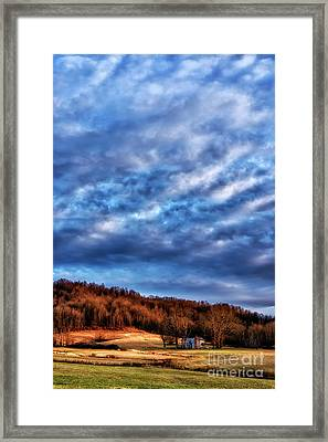 Morning Light And Clouds Framed Print by Thomas R Fletcher