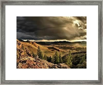 Morning Light And Thunder Shower Framed Print