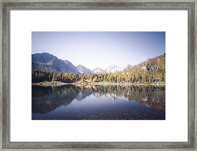 Morning Light At Heart Lake Framed Print
