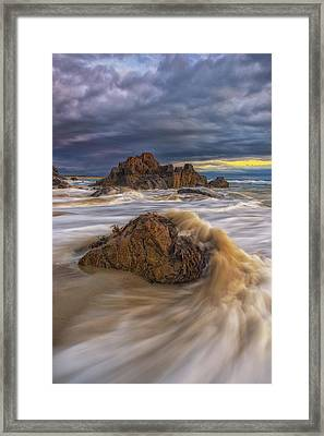 Morning Light At Marginal Way Framed Print