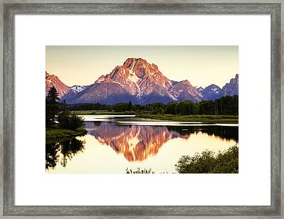 Morning Light At Oxbow Bend Framed Print by Andrew Soundarajan