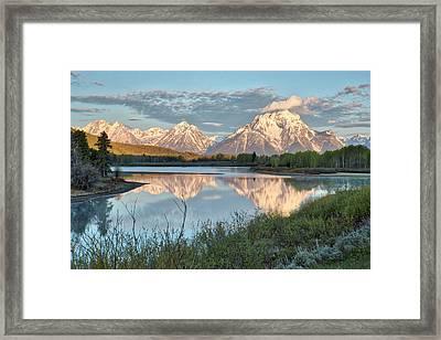 Morning Light At Oxbow Bend Framed Print