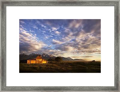 Morning Light At The Barn Framed Print by Andrew Soundarajan
