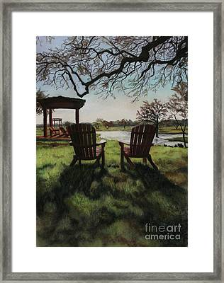 Morning Light At The Vineyard Florence Texas Framed Print by Kelly Borsheim