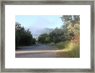 Morning Light By The Russian River Framed Print by Remegio Onia