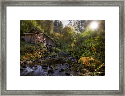 Morning Light Cedar Creek Grist Mill Framed Print by David Gn