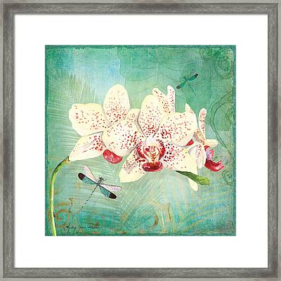 Morning Light - Dancing Dragonflies Framed Print