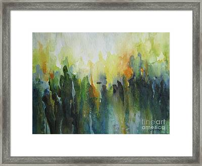 Framed Print featuring the painting Morning Light by Elena Oleniuc