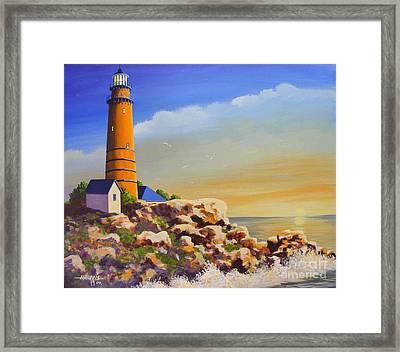 Morning Light Framed Print by Hugh Harris