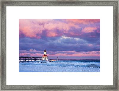 Morning Light In Michigan City Framed Print by Jackie Novak