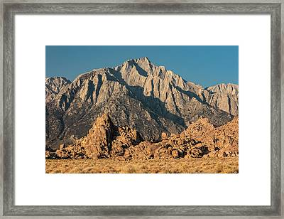 Framed Print featuring the photograph Morning Light In The Alabama Hills by Stuart Gordon