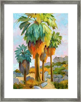 Morning Light Indian Canyons Framed Print by Diane McClary