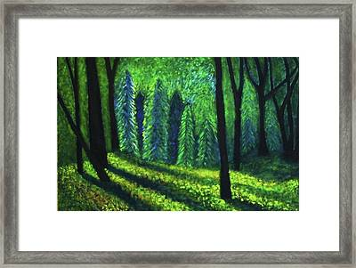 Framed Print featuring the painting Morning Light by John Scates