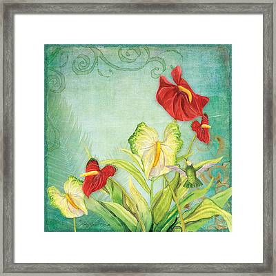 Morning Light - Mist Rising Framed Print