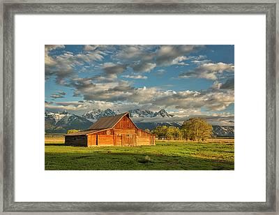 Morning Light On Moulton Barn #2 Framed Print