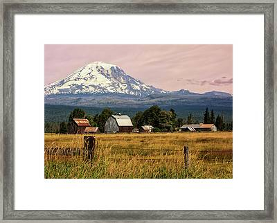 Morning Light On Mount Adams Framed Print