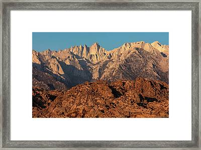 Framed Print featuring the photograph Morning Light On Mt. Whitney by Stuart Gordon