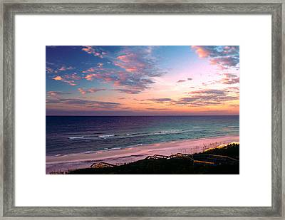 Morning Light On Rosemary Beach Framed Print by Marie Hicks