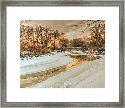 Morning Light On The Riverbank Framed Print