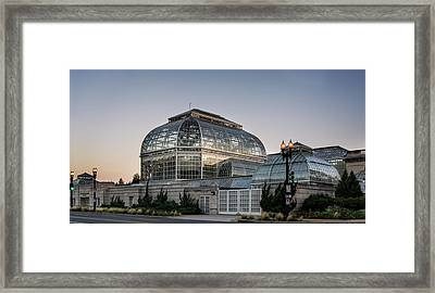 Framed Print featuring the photograph Morning Light On The United States Botanic Garden by Greg Mimbs
