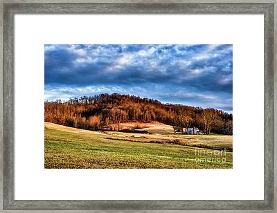 Morning Light Threatening Sky Framed Print by Thomas R Fletcher