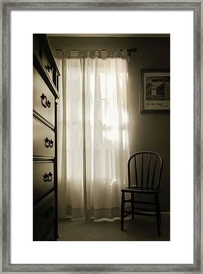 Morning Light Through The Window Framed Print