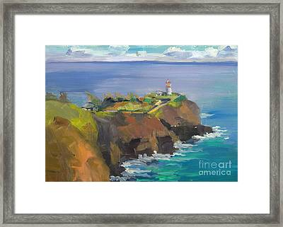 Morning Lighthouse Framed Print by Cynthia Riedel