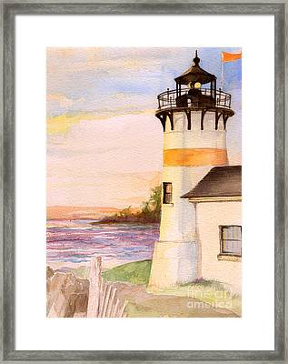 Morning, Lighthouse Framed Print