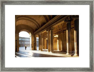 Framed Print featuring the photograph Morning Lights At The Louvre Museum by Ivy Ho