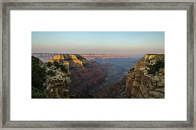 Morning Lights Wotans Throne Framed Print