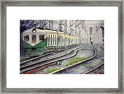 Morning Local Train Framed Print
