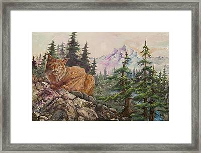 Morning Lynx Framed Print