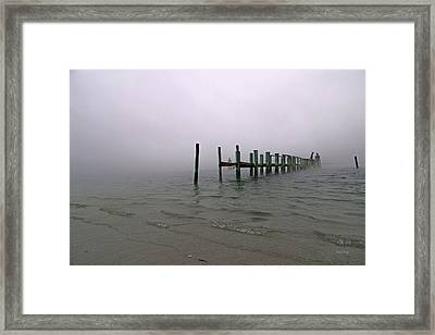 Morning March Snow Framed Print by Betsy Knapp