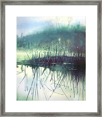 Framed Print featuring the painting Morning Marsh by Gertrude Palmer