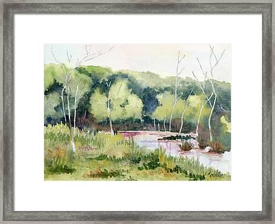 Morning Marsh Framed Print by Marsha Elliott