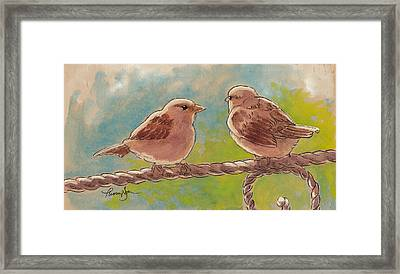 Morning Meeting Framed Print by Tracie Thompson