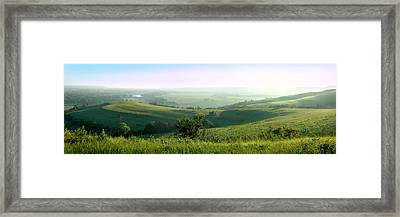 Morning Mist - Kansas River Valley Framed Print
