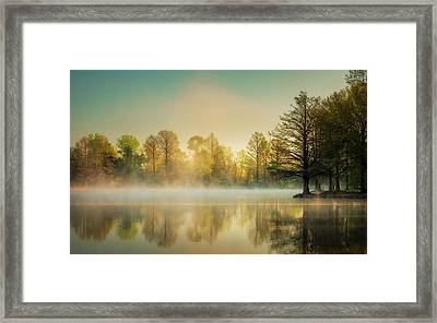Framed Print featuring the photograph Morning Mist At Honor Heights  by James Barber