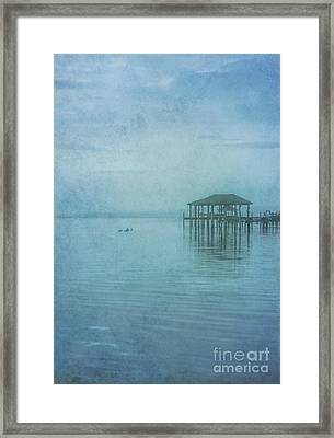 Framed Print featuring the digital art Morning Mist In Blue by Randy Steele