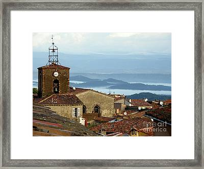 Morning Mist In Provence Framed Print by Lainie Wrightson