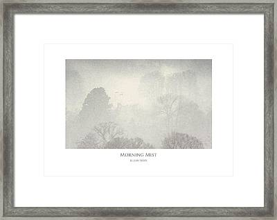 Framed Print featuring the digital art Morning Mist by Julian Perry