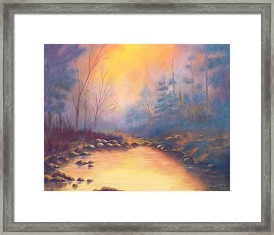 Morning Mist Framed Print by Merle Blair