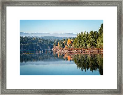 Morning Mist On Distant Mountains Framed Print