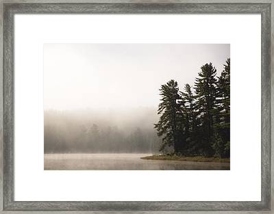 Morning Mist On Mew Lake Framed Print by Cale Best