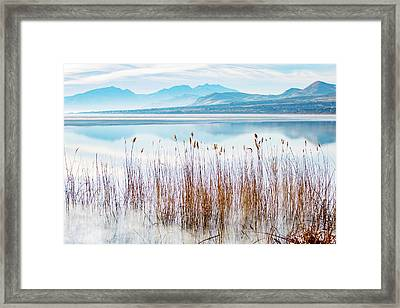Morning Mist On The Lake Framed Print