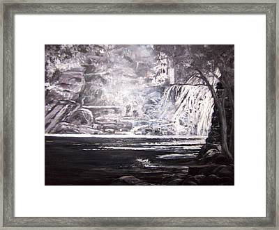 Morning Mist -theresa Falls Framed Print