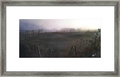Morning Mist Framed Print by Victoria Heryet
